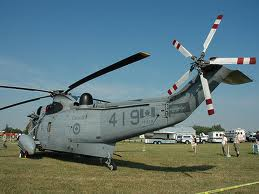 A Sea King is admired by spectators at the Saanich Fair Grounds